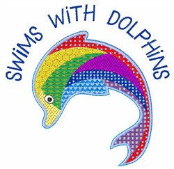 Dolphins Patchwork embroidery design
