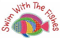 Fishes Swim embroidery design