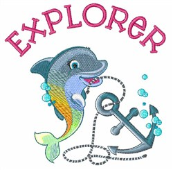 Explorer Dolphin embroidery design