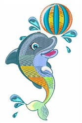 Dolphin Ball embroidery design