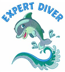 Expert Diver embroidery design