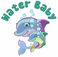 Water Baby embroidery design