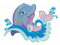 Dolphin Swim embroidery design