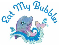 Eat Bubbles embroidery design