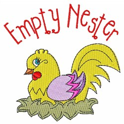 Empty Nester embroidery design