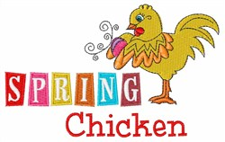 Spring Chicken embroidery design