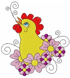 Chick Flower embroidery design
