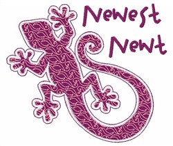 Newest Newt embroidery design