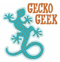 Gecko Geek embroidery design