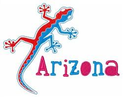 Arizona Lizard embroidery design