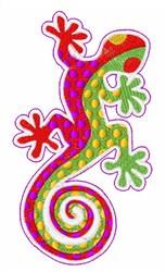 Gecko Lizard embroidery design