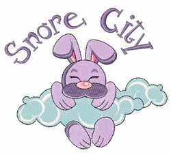 Snore City embroidery design