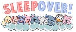 Sleepover! embroidery design
