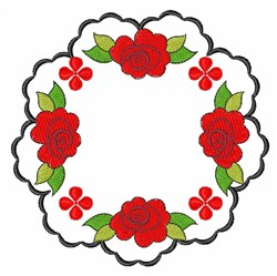 Flower Rose embroidery design