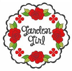 Garden Girl embroidery design