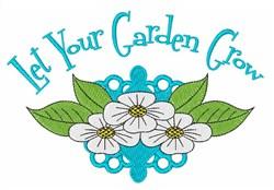 Garden Grow embroidery design