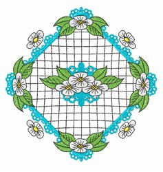 Flowers Leaves embroidery design