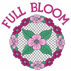 Full Bloom embroidery design