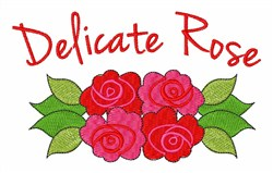 Delicate Rose embroidery design