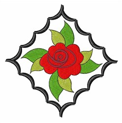 Rose Leaves embroidery design