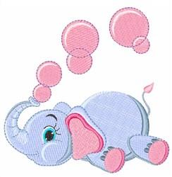Bubble Elephant embroidery design