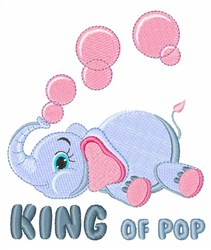 King of Pop embroidery design