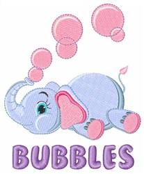 Bubbles Elephant embroidery design