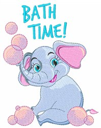 Bath Time! embroidery design