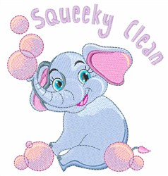 Squeaky Clean embroidery design