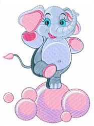 Elephant Bubbles embroidery design