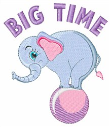 Big Time embroidery design