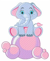 Elephant Bubbles embroidery design