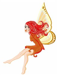 Autumn Fairy embroidery design