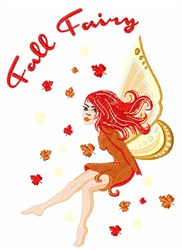 Fall Fairy embroidery design
