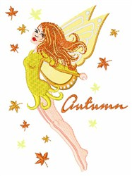 Autumn Fairy embroidery design