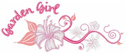 Garden Girl embroidery design