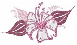 Hawaii Hibiscus embroidery design