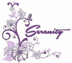 Serenity Hibiscus embroidery design