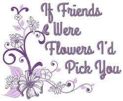 Pick Friends embroidery design