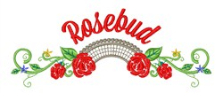 Rosebud Flowers embroidery design