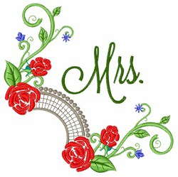 Mrs. Roses embroidery design
