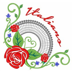 Italiano Roses embroidery design