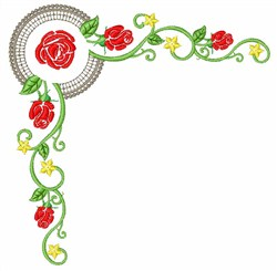 Roses Borders embroidery design