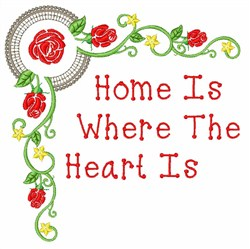 Heart Home embroidery design