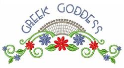Greek Goddess embroidery design