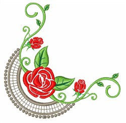 Rose Swirls embroidery design