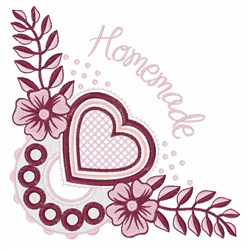 Homemade Heart embroidery design