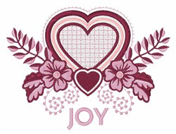 Joy Flowers embroidery design