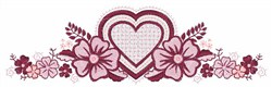 Flower Borders embroidery design