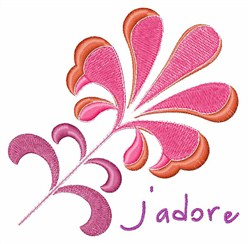 Jadore Flower embroidery design